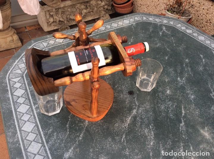 Coleccionismo Otros Botellas y Bebidas: BOTELLERO DE MADERA BASCULANTE - Foto 3 - 124657171