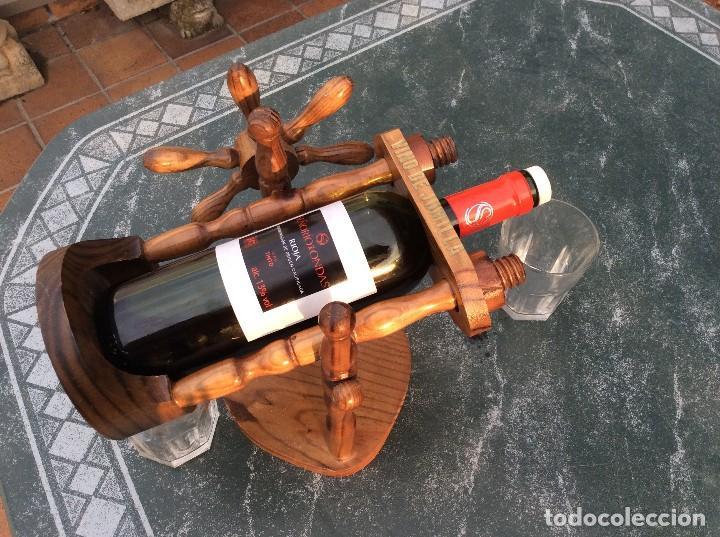 Coleccionismo Otros Botellas y Bebidas: BOTELLERO DE MADERA BASCULANTE - Foto 4 - 124657171