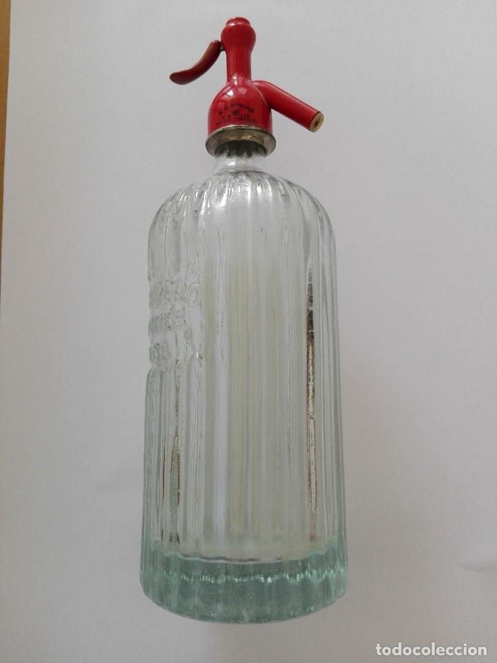 SIFÓN ACANALADO J. HERRERO ELDA (Coleccionismo - Otras Botellas y Bebidas )