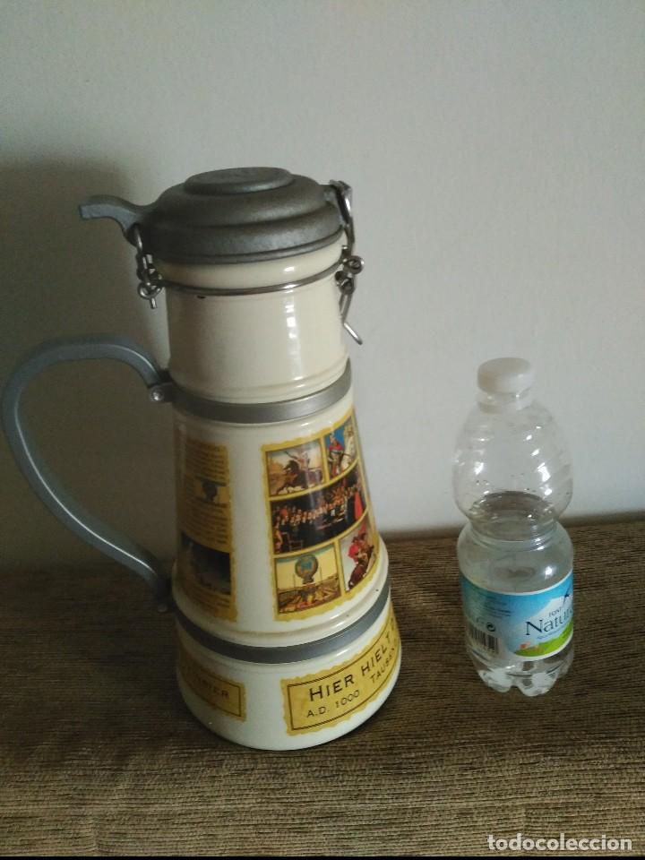 GRAN JARRA CERVEZA CERAMICA ALTENMUNSTER 30X14 CMS 2.100 GRAMOS PESO (Coleccionismo - Otras Botellas y Bebidas )