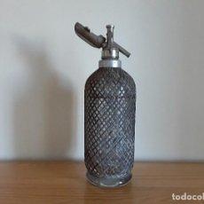 Coleccionismo Otros Botellas y Bebidas: BOTELLA SIFÓN MALLA METÁLICA. Lote 128478479