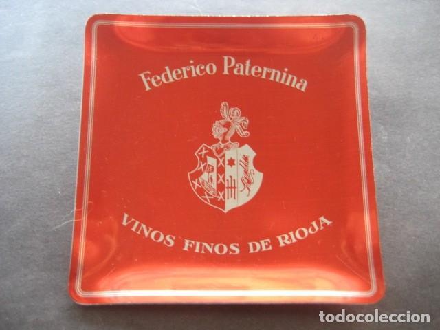 ANTIGUO CENICERO ALUMINIO FEDERICO PATERNINA. VINOS FINOS DE RIOJA (Coleccionismo - Otras Botellas y Bebidas )