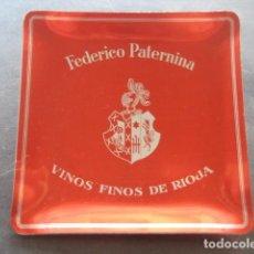 Coleccionismo Otros Botellas y Bebidas: ANTIGUO CENICERO ALUMINIO FEDERICO PATERNINA. VINOS FINOS DE RIOJA. Lote 130448966