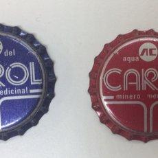 Coleccionismo Otros Botellas y Bebidas: ANTIGUAS CHAPAS TAPON CORONA AGUA CAROL DOS MODELOS DIFERENTES RARAS. Lote 130758589
