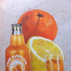 Coleccionismo Otros Botellas y Bebidas: ANTIGUO CARTEL ZUMOS NATURALES DIANA. CARCAGENTE (VALENCIA). SE COLGABA EN COMERCIOS.. Lote 130777812