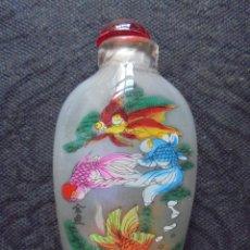 Coleccionismo Otros Botellas y Bebidas: BOTELLA RAPE PINTADA CON PECES. Lote 130916224