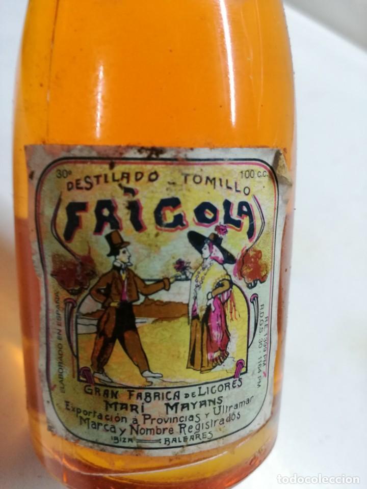Coleccionismo Otros Botellas y Bebidas: ANTIGUO BOTELLIN ESTOMACAL TOMILLO FRIGOLA IBIZA BALEARES - Foto 2 - 130994188