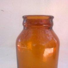Coleccionismo Otros Botellas y Bebidas: BOTE - FRASCO PEQUEÑO LECHE CONDENSADA - ÁMBAR CLARO. Lote 131716302