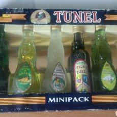 Coleccionismo Otros Botellas y Bebidas: ESTUCHE NUEVO MINIPACK BOTELLAS BOTELLITAS BOTELLINES BEBIDAS TUNEL PALME DE MALLORCA. Lote 132227365