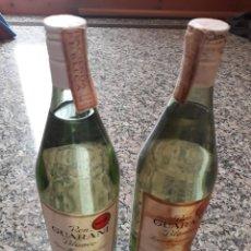 Coleccionismo Otros Botellas y Bebidas: 2 BOTELLAS DE RON GUARANI - MÁLAGA - 40 GRADOS - 1 LITRO (AÑOS 60). Lote 132238462