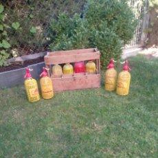 Coleccionismo Otros Botellas y Bebidas: CAJA LA CATARATA CON SIFONES. Lote 134930054