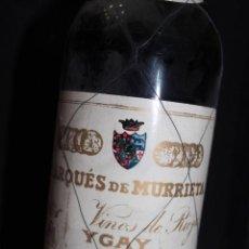 Coleccionismo Otros Botellas y Bebidas: BOTELLA VINO DE RIOJA. MARQUÉS DE MURRIETA YGAY. RESERVA COSECHA 1954.. Lote 135838926