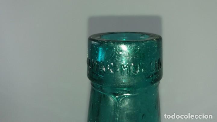 Coleccionismo Otros Botellas y Bebidas: Antigua garrafa damajuana de cristal BERNAL EL PALMAR MURCIA ovalada de 16 LITROS - Foto 3 - 136040554