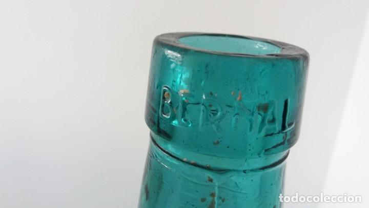 Coleccionismo Otros Botellas y Bebidas: Antigua garrafa damajuana de cristal BERNAL EL PALMAR MURCIA ovalada de 16 LITROS - Foto 5 - 136040554