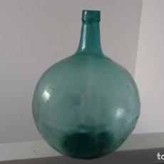 Coleccionismo Otros Botellas y Bebidas: ANTIGUA GARRAFA DAMAJUANA DE CRISTAL BERNAL EL PALMAR MURCIA OVALADA DE 16 LITROS. Lote 136040554