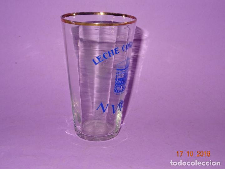 Coleccionismo Otros Botellas y Bebidas: Antiguo Vaso de Cristal Publicidad de Leche Condensada NURIA - Foto 4 - 136762538