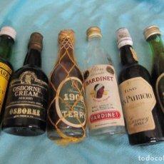 Coleccionismo Otros Botellas y Bebidas: LOTE DE 6 ANTIGUAS BOTELLAS DE LICORES EN MINIATURA. Lote 137535118