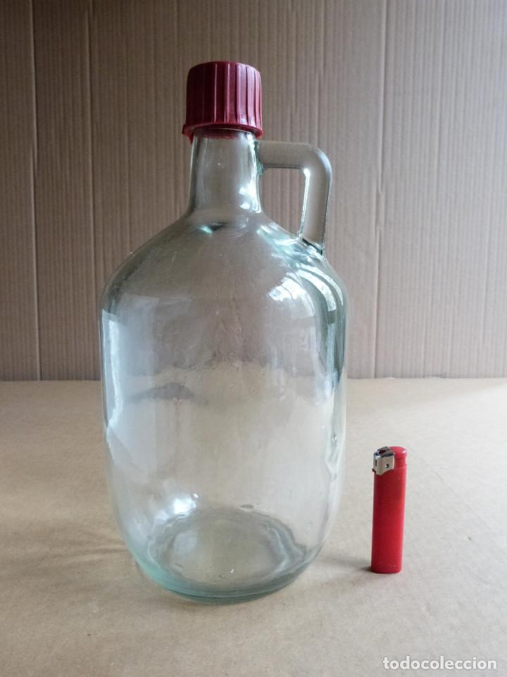Coleccionismo Otros Botellas y Bebidas: Garrafa botella de cristal Hierbas Tunel con tapon - 3 Litros - Foto 5 - 137950326