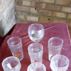 Coleccionismo Otros Botellas y Bebidas: 7 ANTIGUAS COPAS Y VASOS CON PUBLICIDAD DE BEBIDAS. Lote 137963270