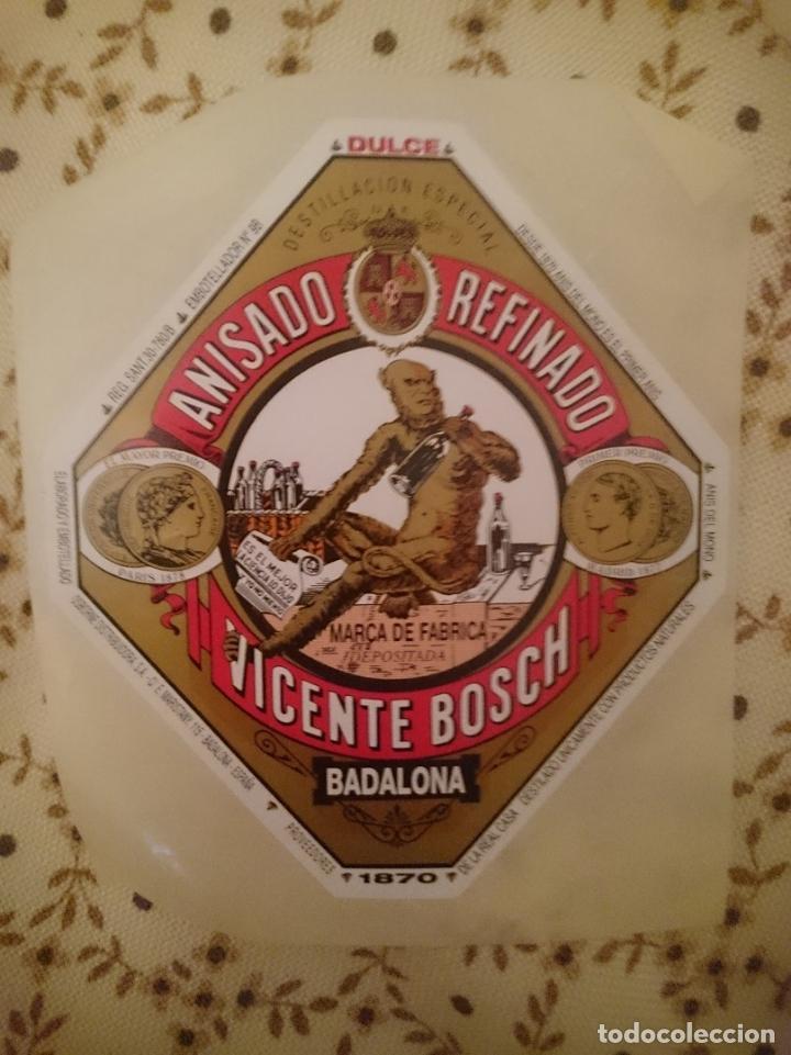ETIQUETA DE ANIS DEL MONO ORIGINAL BADALONA DE LA MISMA FABRICA --REFM3E1 (Coleccionismo - Otras Botellas y Bebidas )