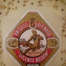 Coleccionismo Otros Botellas y Bebidas: ETIQUETA DE ANIS DEL MONO ORIGINAL BADALONA DE LA MISMA FABRICA --REFM3E1. Lote 138794810