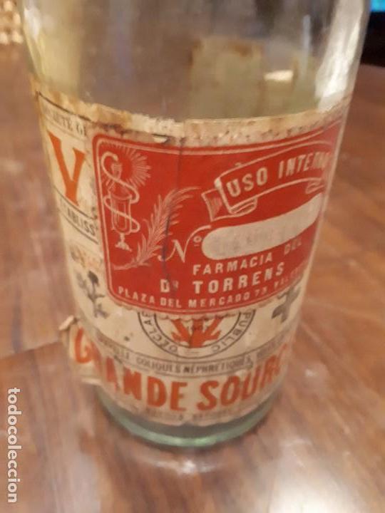 Coleccionismo Otros Botellas y Bebidas: Botella Aguna Mineral Vitel. Grande Source. Francia. Digestion Nutrition. Antigua. 29 cms - Foto 3 - 138883466