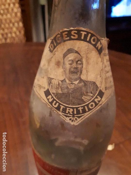 Coleccionismo Otros Botellas y Bebidas: Botella Aguna Mineral Vitel. Grande Source. Francia. Digestion Nutrition. Antigua. 29 cms - Foto 5 - 138883466