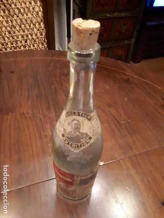 Coleccionismo Otros Botellas y Bebidas: Botella Aguna Mineral Vitel. Grande Source. Francia. Digestion Nutrition. Antigua. 29 cms - Foto 6 - 138883466