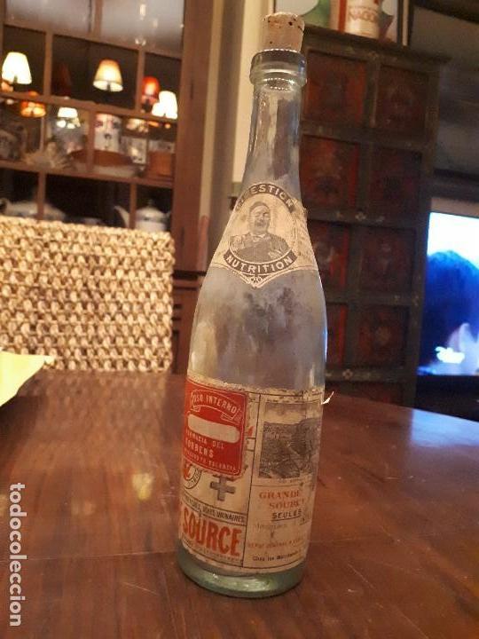 Coleccionismo Otros Botellas y Bebidas: Botella Aguna Mineral Vitel. Grande Source. Francia. Digestion Nutrition. Antigua. 29 cms - Foto 7 - 138883466