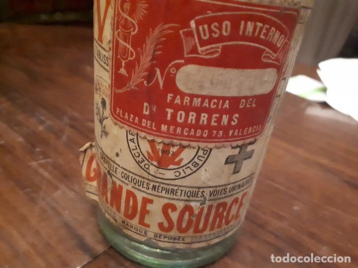 Coleccionismo Otros Botellas y Bebidas: Botella Aguna Mineral Vitel. Grande Source. Francia. Digestion Nutrition. Antigua. 29 cms - Foto 9 - 138883466