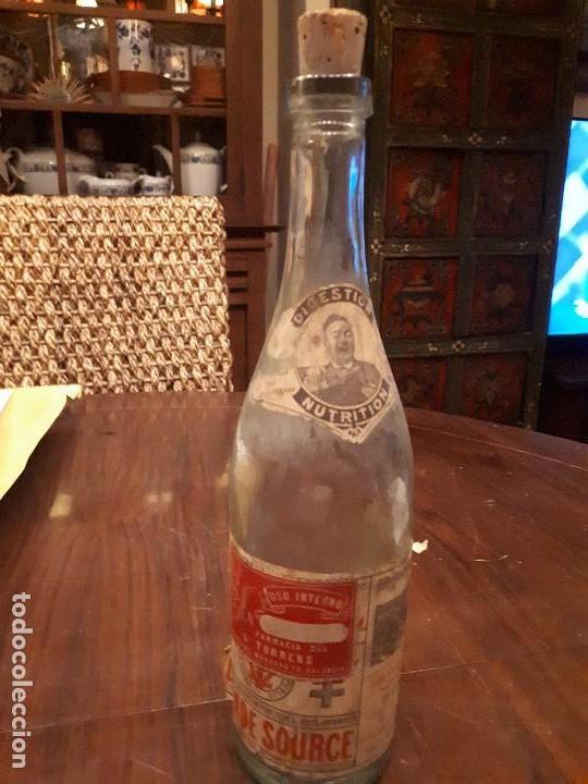 Coleccionismo Otros Botellas y Bebidas: Botella Aguna Mineral Vitel. Grande Source. Francia. Digestion Nutrition. Antigua. 29 cms - Foto 2 - 138883466