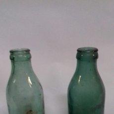 Coleccionismo Otros Botellas y Bebidas: LOTE DE DOS BOTELLAS ANTIGUAS, POSIBLEMENTE SOPLADAS, ERAN DE LECHE CONDENSADA.. Lote 139743717