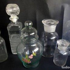 Coleccionismo Otros Botellas y Bebidas: LOTE DE 6 ANTIGUAS BOTELLAS DE CRISTAL , OPORTUNIDAD COLECCIONISTAS, VER FOTOS. Lote 139995002