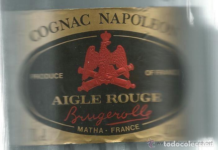 Coleccionismo Otros Botellas y Bebidas: BOTELLA DE COÑAC NAPOLEON ETIQUETA NEGRA AGUILA ROJA - BRUGEROLLE - Foto 4 - 140521034