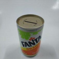 Coleccionismo Otros Botellas y Bebidas: LATA HUCHA REFRESCO FANTA DE NARANJA. ORANGE. EN FRANCES. SIN CONTENIDO. CAR130. Lote 141340302