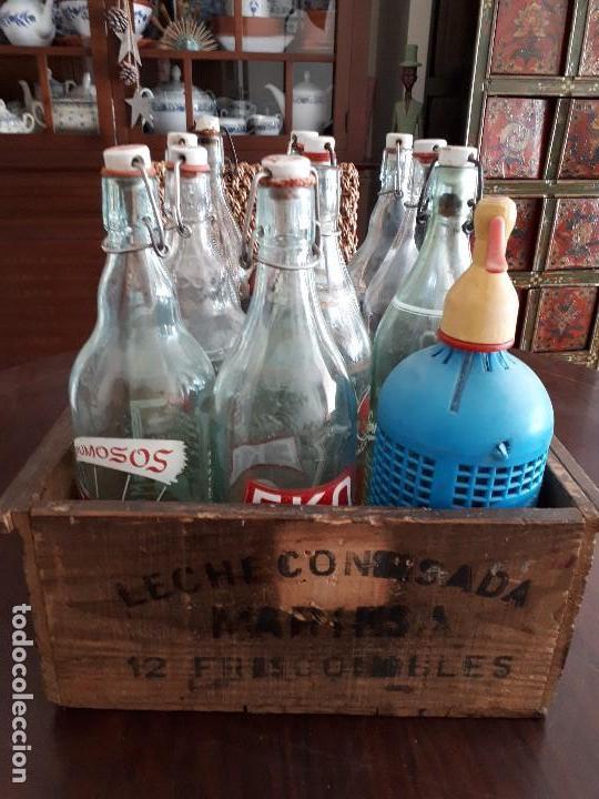 Coleccionismo Otros Botellas y Bebidas: Colección 11 Botellas Gaseosa y 1 Sifón. Revoltosa, El Cid, Escutia, Montesol. Monteagudo. - Foto 13 - 141561338