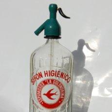 Coleccionismo Otros Botellas y Bebidas: SIFÓN SIFÓN ESPUMOSOS LA GOLONDRINA MADRID. Lote 141590114