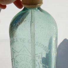 Coleccionismo Otros Botellas y Bebidas: SIFÓN MARCOS RIERA DE BALSARENY ESCRITO EN CATALÁN DE ANTES DE LA GUERRA CIVIL. Lote 141590430