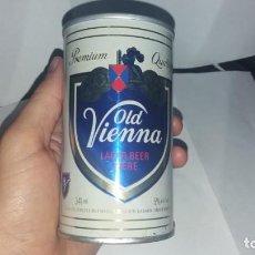Coleccionismo Otros Botellas y Bebidas: LATA ANTIGUA ACERO RECTO DE CERVEZA OLD VIENNA BEER BIER BIERE BIRRA. Lote 142029466