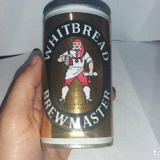 Coleccionismo Otros Botellas y Bebidas: LATA ANTIGUA ACERO DE CERVEZA WHITBREAD BREWMASTER BEER BIER BIERE BIRRA. Lote 142031450