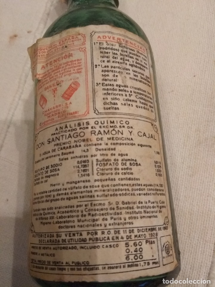 Coleccionismo Otros Botellas y Bebidas: botella de agua de carabaña - Foto 2 - 213138870