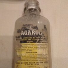 Coleccionismo Otros Botellas y Bebidas: AGAROL ACEITE MINERAL - CON CONTENIDO. Lote 142274554