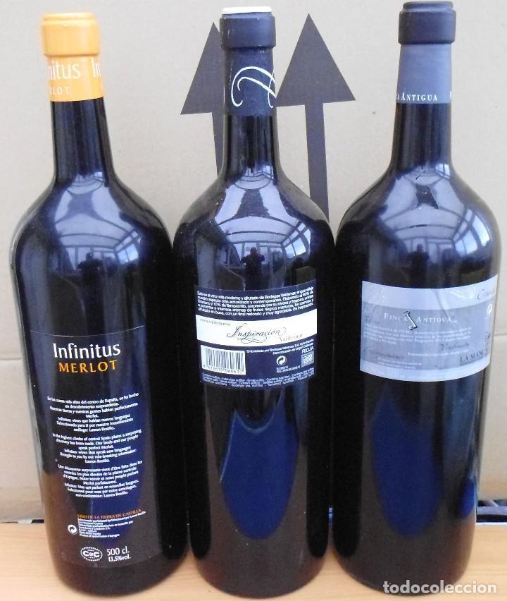Coleccionismo Otros Botellas y Bebidas: 3 BOTELLAS DE VINO DE CRISTAL 5 LITROS VACÍAS DE PROMOCIÓN SIN ABRIR MIRA LAS FOTOS - Foto 3 - 142305434