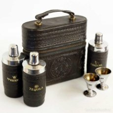Coleccionismo Otros Botellas y Bebidas: ANTIGUO ESTUCHE MEXICANO PORTA LICORES. Lote 143036434