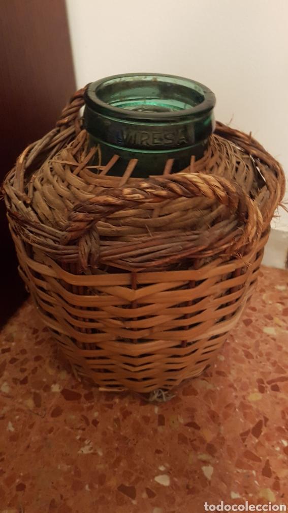 Coleccionismo Otros Botellas y Bebidas: Garrafa boca ancha Damajuana de Viresa - Foto 2 - 170958125