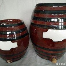Coleccionismo Otros Botellas y Bebidas: LOTE DOS CUBAS DE CERÁMICA ANTIGUAS. Lote 143817498