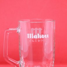 Coleccionismo Otros Botellas y Bebidas: JARRA CERVEZA MAHOU PITCHER GLASS BEER BIER CERVEJA BIRRA ESPAÑA SPAIN 50 CL. Lote 143894822