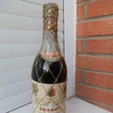 Coleccionismo Otros Botellas y Bebidas: BOTELLA LLENA BRANDY TERRY CENTENARIO. MALLA AMARILLA. SELLO DE 8O CTS. . Lote 143914210