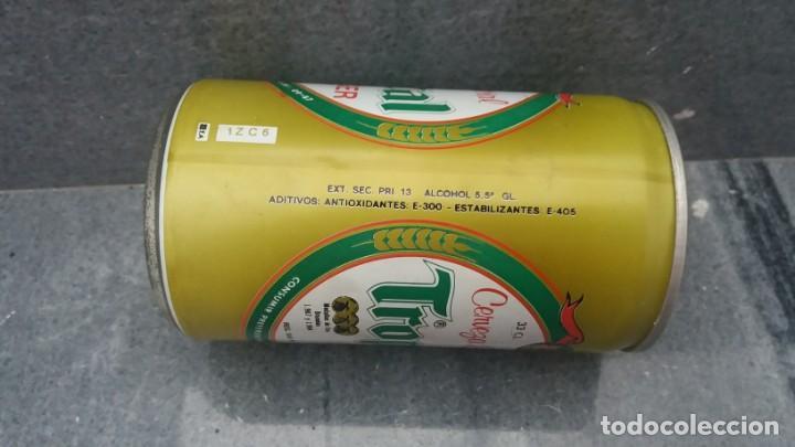 Coleccionismo Otros Botellas y Bebidas: Lata antigua de cerveza TROPICAL del año 1986 ISLAS PALMAS GRAN CANARIAS - Foto 3 - 143995138