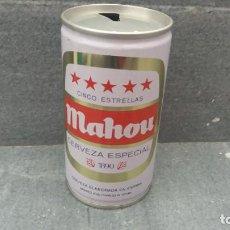 Coleccionismo Otros Botellas y Bebidas: LATA ANTIGUA ACERO DE 35 CL DE CERVEZA MAHOU 5 ESTRELLAS DEL AÑO 1970 APROXIMADAMENTE . Lote 143997398